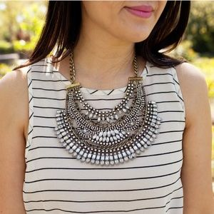 Half Moon🌛Silver and Gold Statement Necklace